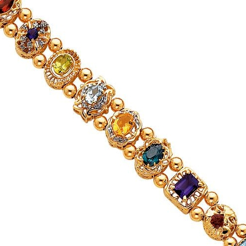 Shopzilla - Find low prices on 14k Yellow Gold Created Alexandrite