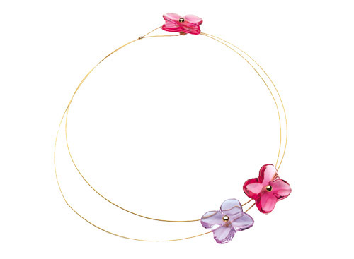 Baccarat Hortensia Flower Necklace
