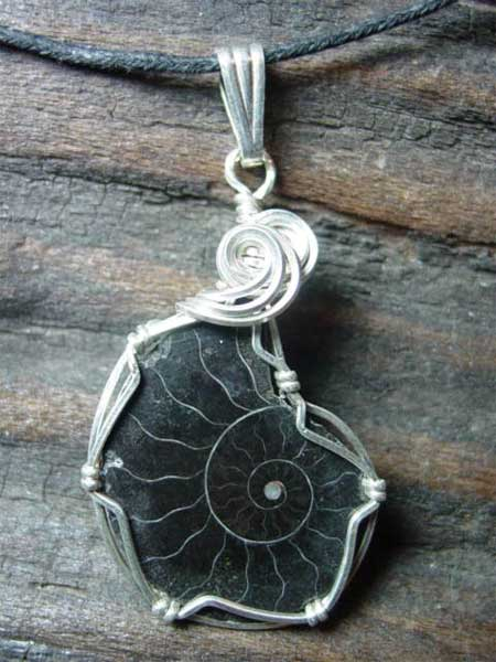 Black Ammonite Pendant