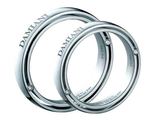 Wedding rings in Co-designed by Damiani and Brad Pitt