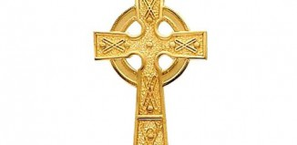 Gold Antique Celtic Cross