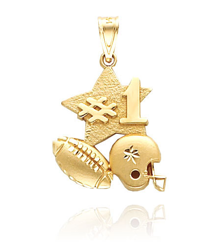 Exclusive Gold Football Jewelry
