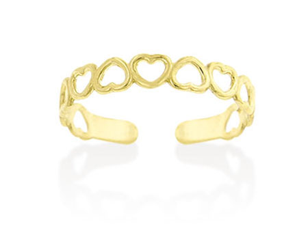 Gold Heart Toe Ring