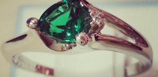 Lab Created Emerald Ring