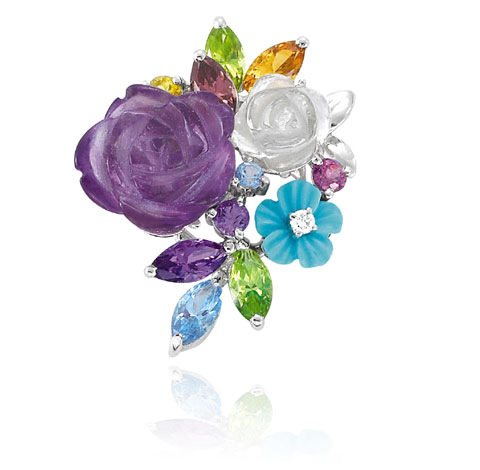 Multicolor Flower Pendant