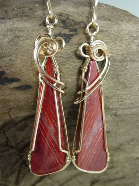 Snake Skin Jasper Earrings