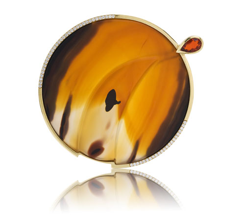 Susan Helmich Opal and Agate Pin