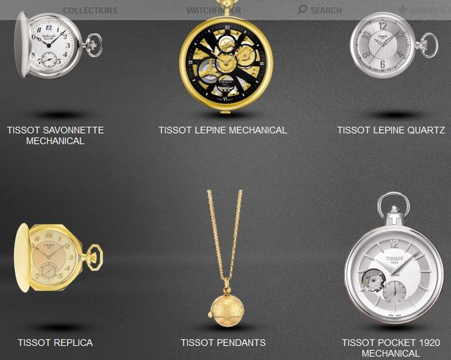 Unique Pocket Tissot Watches
